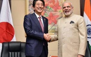 PM Modi, Shinzo Abe lay foundation stone for bullet train project