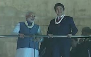 Modi-Abe visit world's largest Mahatma Gandhi museum - Dandi Kutir